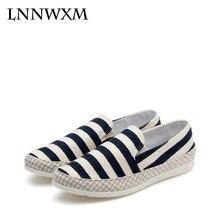 LNNWXM Мужская обувь мужские лоферы парусиновые эспадрильи Разноцветные  Холст круглый носок без шнуровки на весну  2996ec284c9
