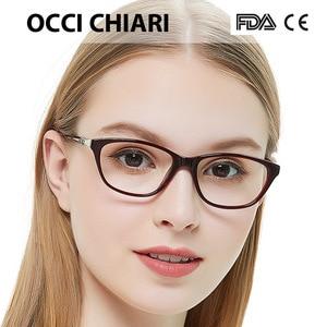 Image 4 - OCCI CHIARI באיכות גבוהה איטליה מעצב מתכת לקשט מסגרת נשים מסגרת אופטית משקפיים בעבודת יד נאי
