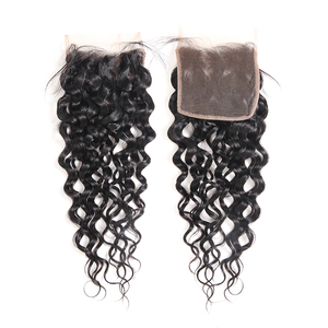 """Image 2 - Ali Queen Hair Water Wave Brazilian Virgin Hair 10"""" to 20"""" 100% Human Hair 4x4 Free Part Swiss Lace Closure With Baby Hair"""