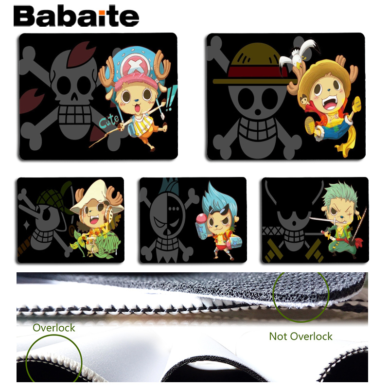 Babaite One piece Chopper Customized laptop Gaming mouse pad Size for 25x29cm Gaming Mousepads