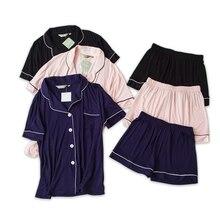 섹시한 커플 짧은 모달 잠옷 세트 여성과 남성 수면 실내 한국 잠옷 여름 짧은 소매 pijamas de las mujeres