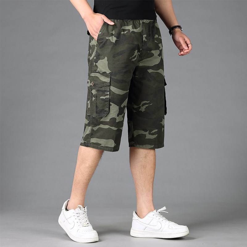 Plus size Cotton mens cargo shorts XL-5XL 6XL male loose camouflage Military large men short trousers shorts men pockets