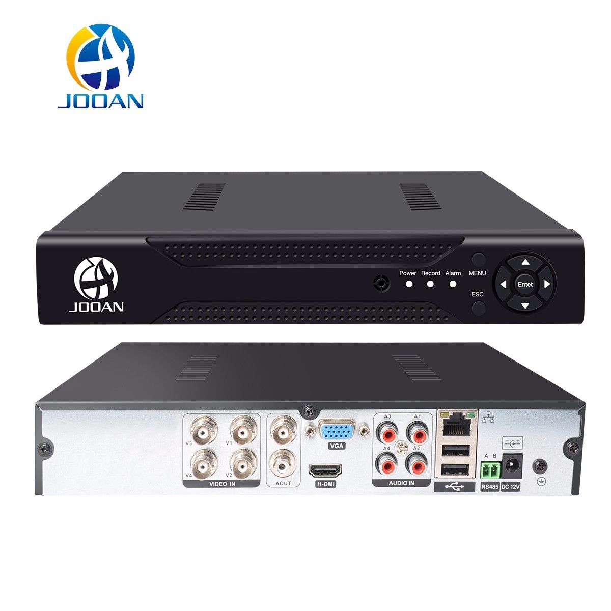 JOOAN 4CH CCTV DVR Security System 1080N H.264 HD-Output P2P Hybrid 5 in 1 Onvif IP Camera TVI CVI AHD Video Recorder