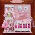 13617 Hongda DIY casa de bonecas em miniatura do quarto do bebê Álbum diy kit miniaturas para decoração frete grátis
