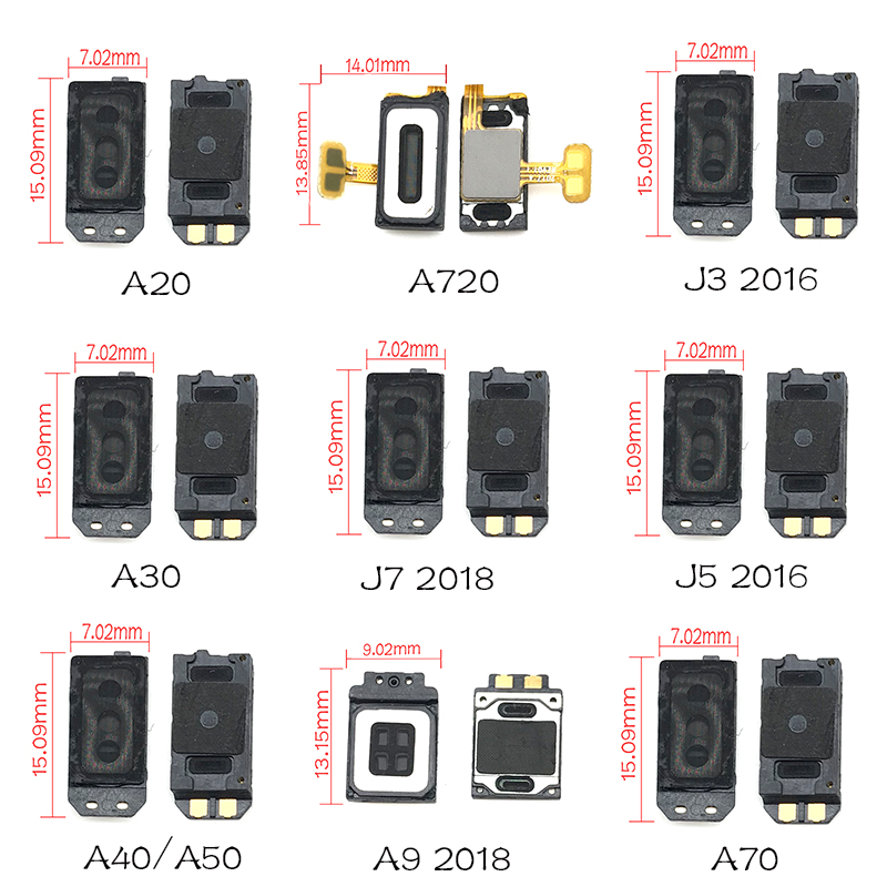 1Pcs For Samsung A9 A8 A6 A7 J7 J6 J8 J4 2018 /J3 J5 2016 / A20 A30 A40 A50 A70 Earpiece Ear Speaker Sound Receiver Flex Cable