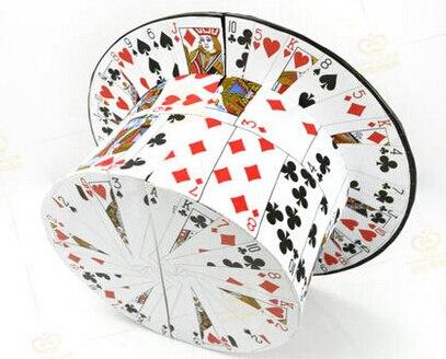 FAN de cartes à carder chapeau haut-de-forme, tours de magie, illusions, tours de cartes nouveautés