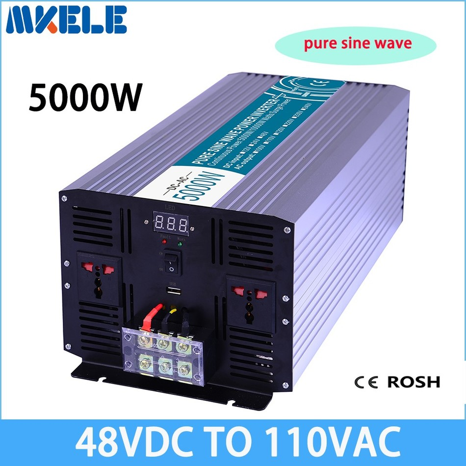 цена на MKP5000-481 pure sine wave solar inverter off-grid 5000w 48v to 110v voltage converter,solar inverter LED Display inversor