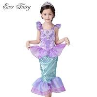 Children Baby Girls Clothes The Little Mermaid Fancy Kids Girls Dresses Princess Ariel Cosplay Halloween Costume