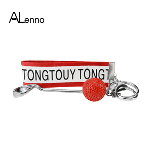 Цветной кожаный брелок для гольфа, спортивный кожаный брелок для ключей, женский и мужской металлический брелок для ключей, аксессуары для ...