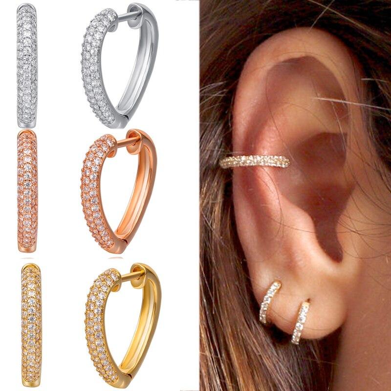 Us 6 6 12 Off Beautiful Small Hoop Sleeper Earring Hinged Huggie Hoop Earrings For Women Pack Of 1 Pair In Hoop Earrings From Jewelry Accessories