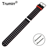 20mm Rubber Silicon Watchband For Samsung Gear S2 Classic SM R732 R735 Moto 360 2 42mm
