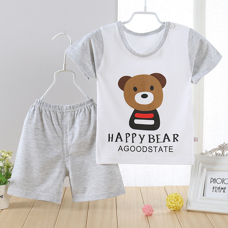 1-3T New children Summer brand Boys baby clothing set kids sports suit boys short + pants gogging sweatshirt casual clothes children clothing set 2018 new baby girl motion suit child short sleeve leisure time twinset summer wear kids boys clothes