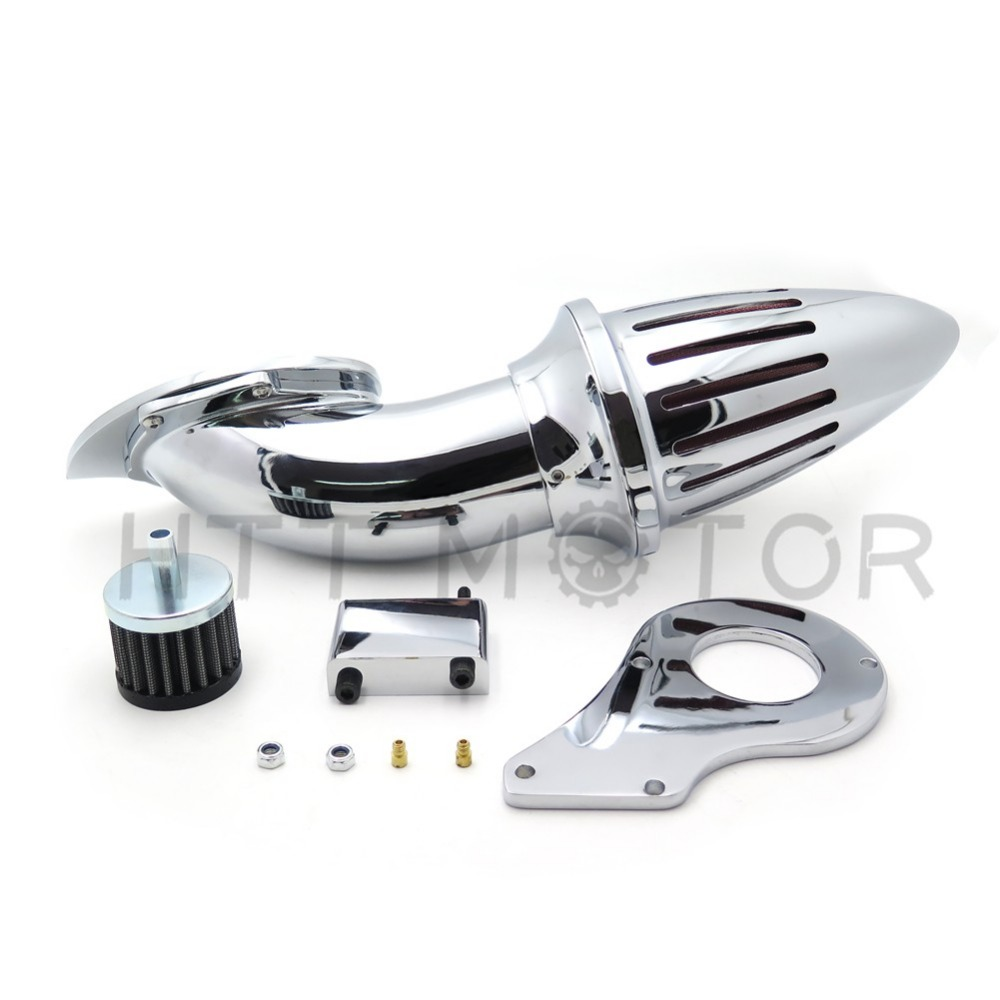 Aftermarket  motorcycle parts Air Cleaner Kits intake filter for  Honda Shadow 600 VLX600 VLX 1999-2012 Chrome aftermarket motorcycle parts spike air cleaner kits intake filter for honda shadow 600 vlx600 1999 2012 chromed