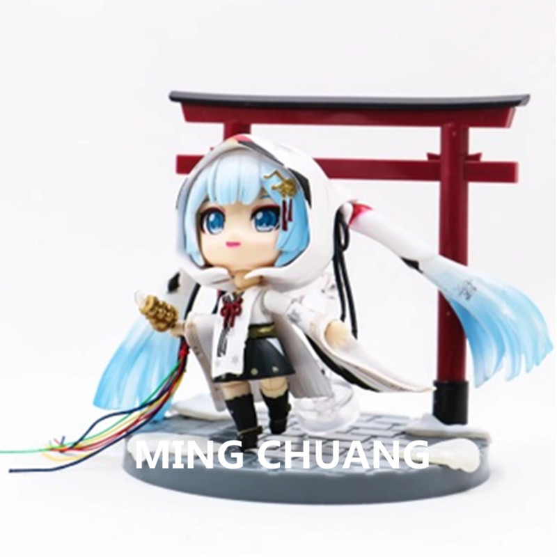 Q Version Hatsune Miku Red crowned Witch PVC 10CM Action Figure Collectible Model Toy BOX Christmas Present Z160