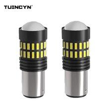 Tuincyn 2 шт. 1157 BAY15D P21/5 Вт светодио дный авто тормоз лампа двойной/два контакта bayont стоп-сигналы красный, белый оранжевый/желтый 12 В DC 1200LM