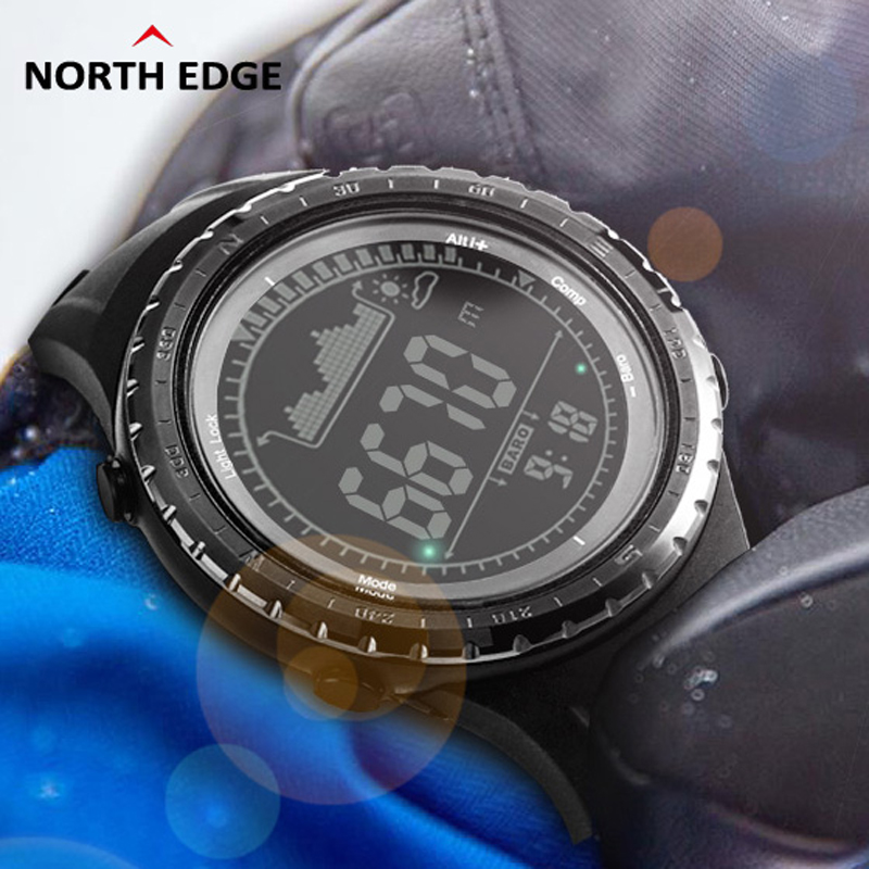 NORTHEDGE Men s Sports Hours Running Swimming font b watches b font Altimeter Barometer Compass Thermometer
