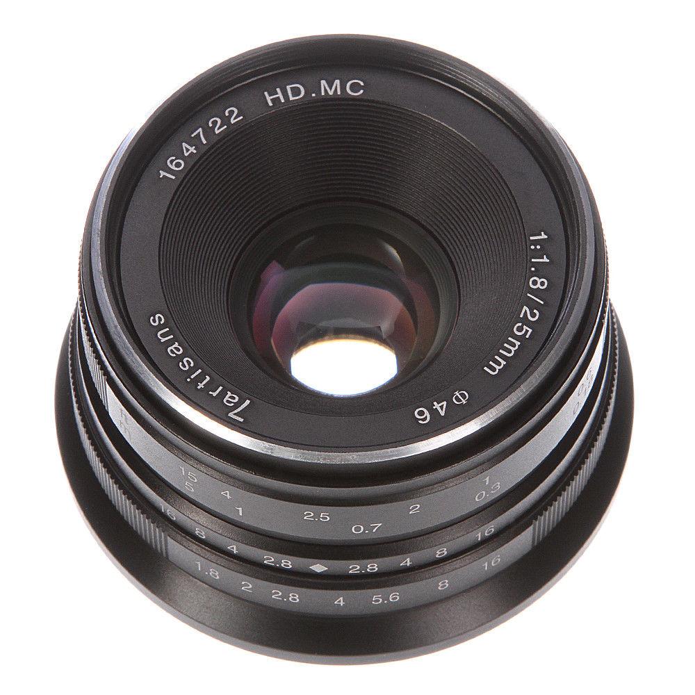 25mm F/1.8 MF HD MC Prime Lens to All Single Series for For Sony E mount A6000/A6100/A5000/A5100/NEX3/3N/5/5T/5R/7 Silver/Black|Camera Lens|   - title=
