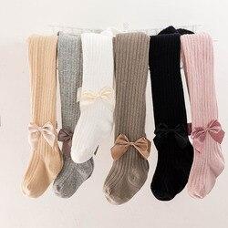 2019 collants da menina do bebê algodão borboleta fita laço-gravata meninas meia-calça das crianças despojado princesa menina collants para meninas do bebê