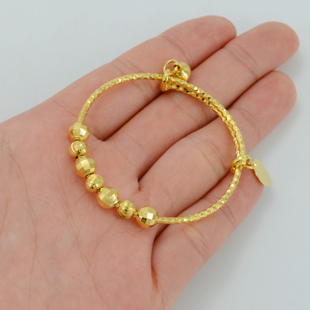 bangle lovely bells children bangles kid newest plated color tengyi jewelry fashion bracelet item boy in from girl baby gift gold lucky infant
