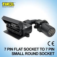 TIROL T21615a 7 Pin Plug Connector Trailer Boat Truck Car Parts Plug Connector Adaptor 7 Pin