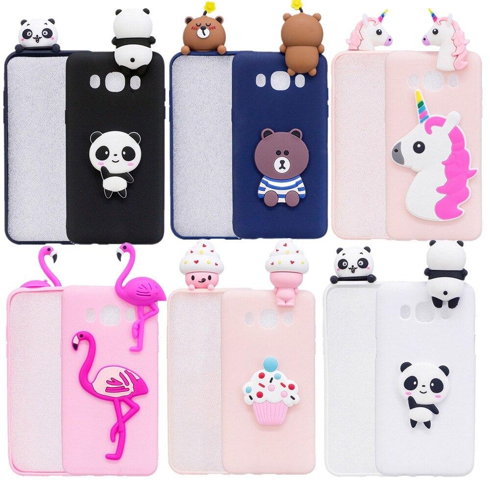 Galleria fotografica Cute 3D Cartoon Unicorn Flamingo Panda Bear TPU Phone Case For Samsung Galaxy 2016 J3 J310/J5 J510/J7 J710 Soft Silicone Cover