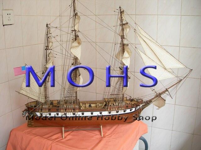 Kit de ensamblaje de escala de barco de vela de escala clásica de madera de escala de barco de 1/90 constelación de acorazado-in Kits de construcción de maquetas from Juguetes y pasatiempos    1