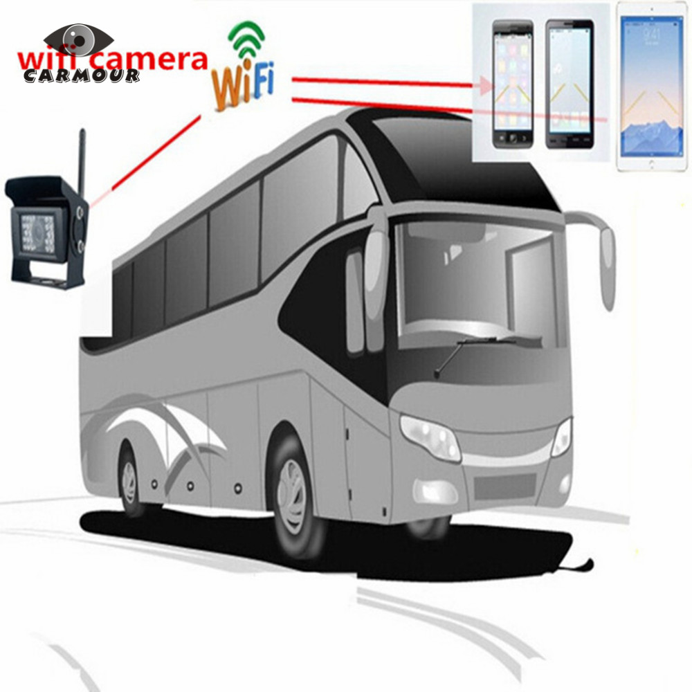 Iphone Android Phone WIFI Camera for Truck / Bus Rear View Monitoring with 28LED Night Vision Waterproof 120 Degree Cam-in Vehicle Camera from Automobiles & Motorcycles    1