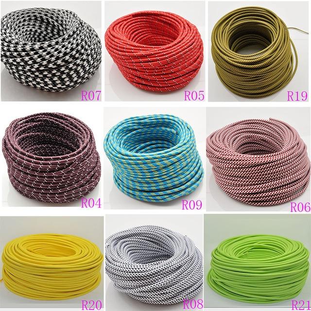 2*0.75 5M/Lot Edison Textile Cable Fabric Wire Chandelier Pendant ...