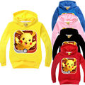 Kid Baby Boy Girl Pokemon Hooded Sweatshirt Child Cotton Top Hoodie Clothes Outfits 2-7Y