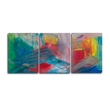 Laeacco 3 Panel Watercolor Wall Artwork Abstract Graffiti Posters and Prints Canvas Calligraphy Painting Home Living Room Decor