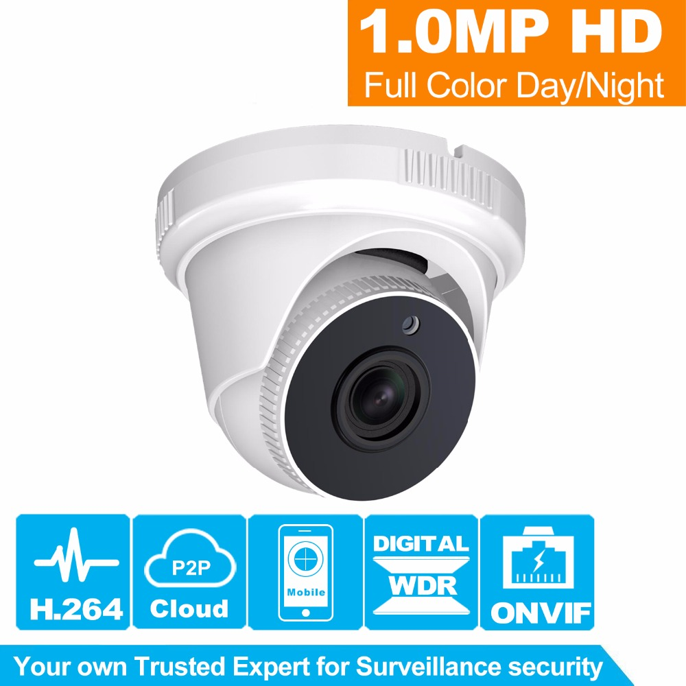HiSecu HD Security Camera 720P Indoor/Outdoor Dome Cam IR Lens 3.6mm 2MP IP CCTV Camera Network Onvif P2P Android iPhone cctv cam ip camera 1080p hd outdoor waterproof pt onvif surveillance inspection dome security camera ir led