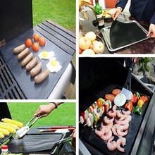 1Pc Nonstick BBQ Oven Liner Grill Mat Foil Barbecue Reusable Cooking Sheet