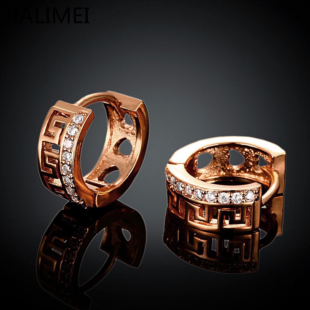 Новое поступление Роскошь розовое золото Цвет Серьги для Обручение Для женщин Циркон Кристалл jialimei ювелирный бренд e052-b