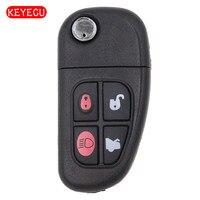 Keyecu Smart Remote Key Clicker 4 Button 315MHz With 4D60 Chip for Jaguar X Type XJ8 S Type 2001 2008 FCC: NHVWB1U241