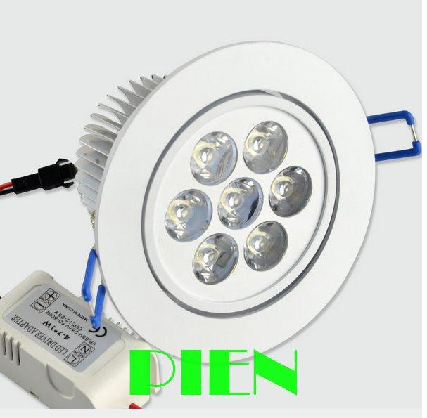 Lamparas de techo led downlight 3W 5W 7W luces iluminacion luz high - Ներքին լուսավորություն - Լուսանկար 6