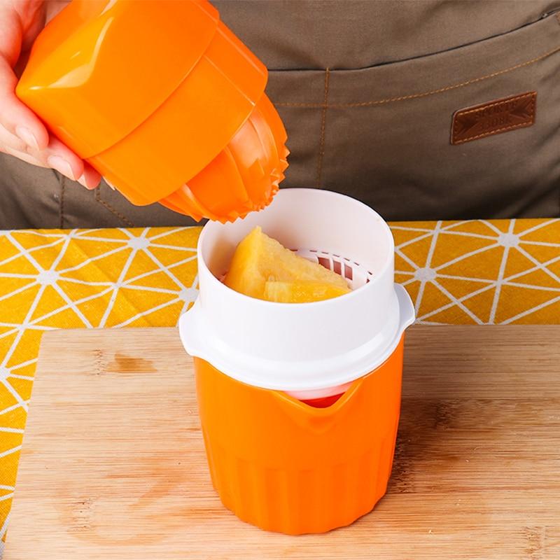 Manual Citrus Juicer For Orange Lemon Apple Grape Watermelon Multifunctional Fruit Extractor Squeezer Potable Juicer Bottle