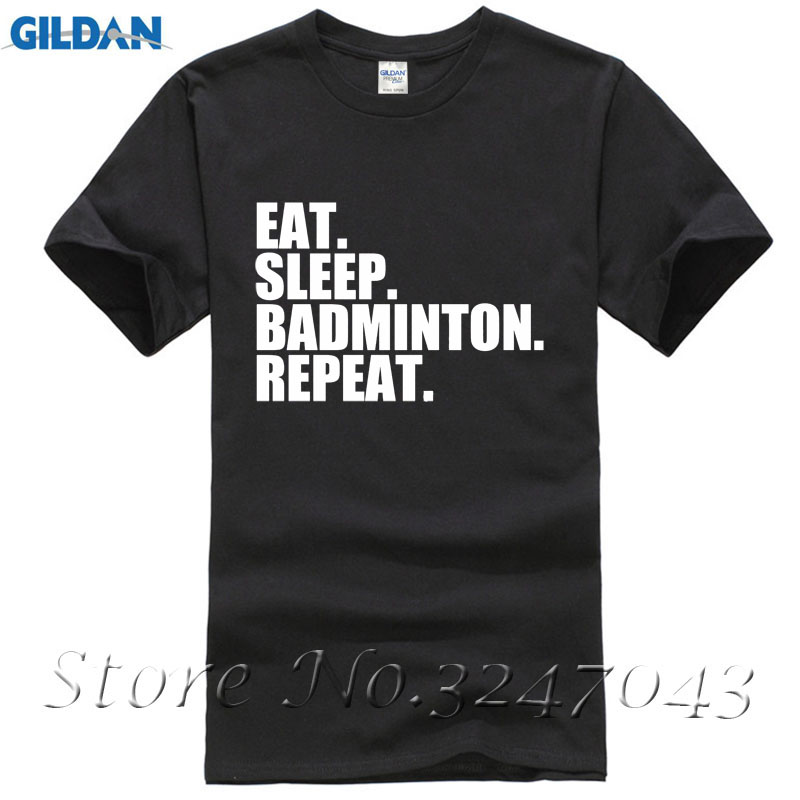 Eat. Sleep. Badmintoner. Repeat. Shuttlecock Mens T-Shirt Simple Style