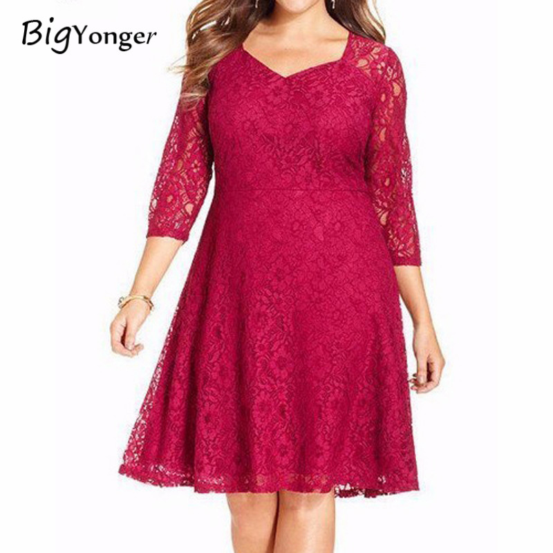 2017 Autumn And Winter Cute Lace Dress Neck Evening Wine