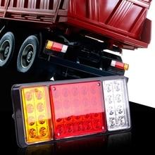цена на 2Pcs Car Truck Tail Lights 12V 36pcs Leds IP68 Waterproof Car Led Tail Light Rear Lamps Tail Brake Stop Signal Light