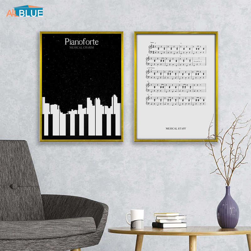 Canvas Art Print Piano Sheet Music Wall Art Posters and Prints Wall Pictures For Living Room Poster Nordic Decoration Home Decor