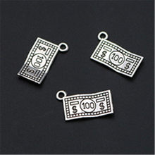 wkoud 20pcs antique silver us dollar template charm alloy pendants hip hop bracelet earrings diy handmade jewelry findings a1142