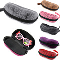 Fashion 2015 6 Colors New Good Protection Protable Zipper Sunglasses Hard Case Glasses Eyewear Box Shell Cover Pouch Bag