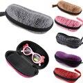 Moda 2015 6 colores nueva buena protección Protable Zipper gafas de sol estuche rígido caja de los vidrios Eyewear Shell cubierta de la bolsa del