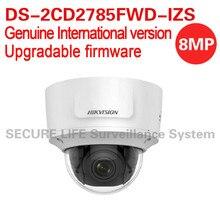 Inglés versión internacional DS-2CD2785FWD-IZS 8MP cámara de red domo ip detección de rostros WDR 2.8-12mm lente VF IP67 IK10 H.265 +
