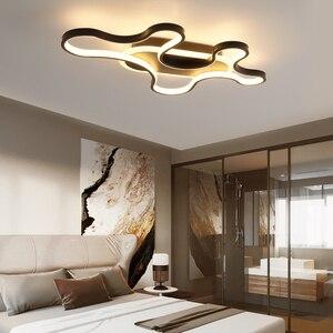 Image 5 - LICAN DIY Moderne LED Plafond Verlichting forLiving kamer Slaapkamer lustre de plafond moderne armatuur plafonnier Zwart LED Plafond Lamp