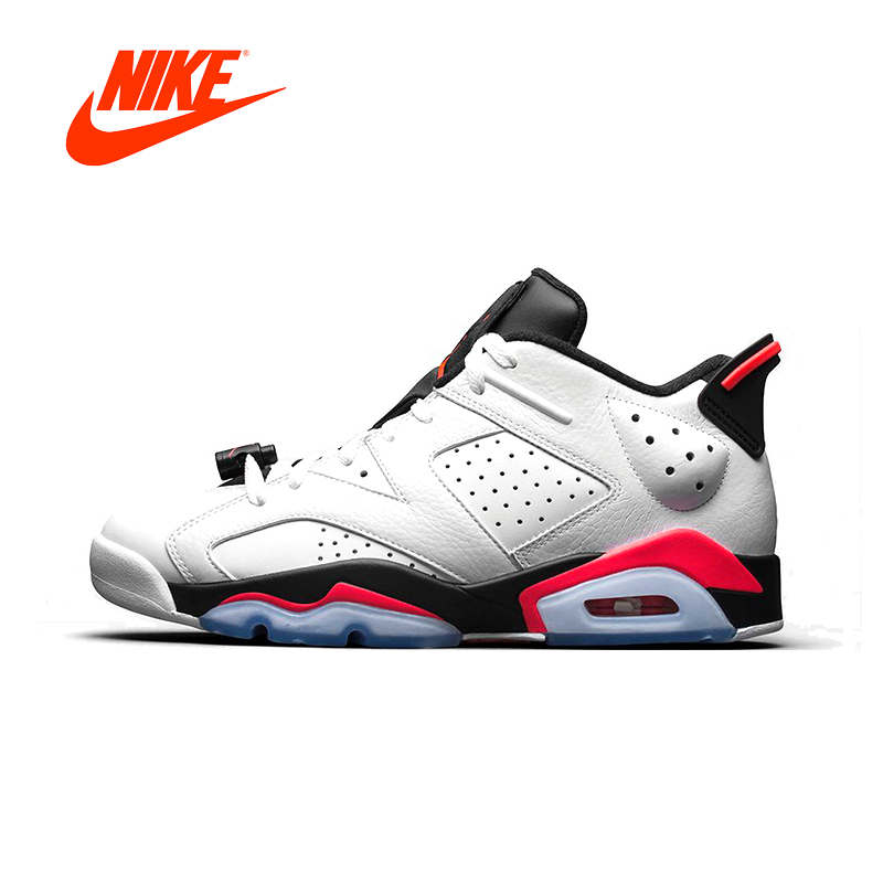 Original New Arrival Authentic NIKE AIR JORDAN 6 RETRO LOW AJ6 Mens Basketball Shoes Sneakers Sport Outdoor Good Quality баскетбольные кроссовки nike air jordan air jordan 11 retro low concord ps aj11 505835 153