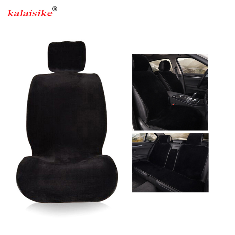 kalaisike plush universal car seat covers for Ford all model focus fiesta s-max mondeo explorer ecosport car styling accessories only 2 front seat special leather car seat covers for ford mondeo focus fiesta edge explorer taurus s max auto accessories styli