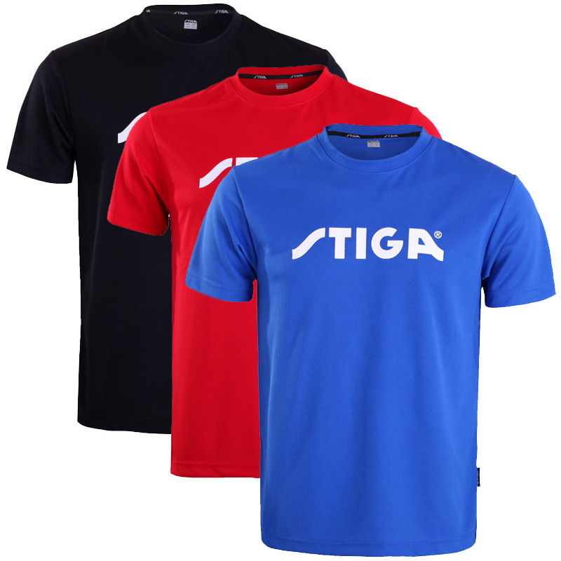 Stiga Table Tennis Shirt Sport Jerseys Badminton Jersey Tennis Masculino Mujer Shorts