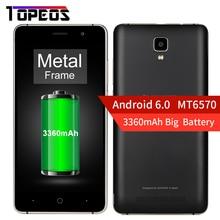 Doogee MT6570 X10 5.0 pulgadas Android 6.0 Smartphone 512 MB RAM 8 GB ROM Dual Sim 480*854 Cámara de 5MP 3360 mAh Dual ID Teléfono Desbloqueado
