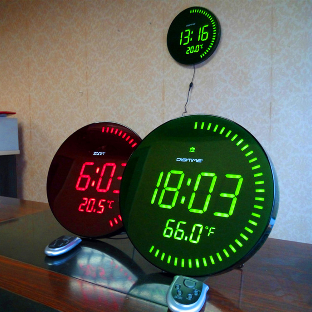 Well package large 3d led digital circling wall clock for Digital led wall clock philippines